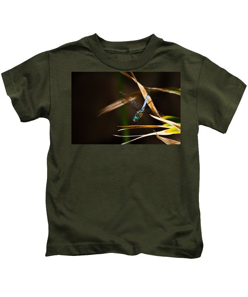 Blue Dasher Dragonfly Kids T-Shirt
