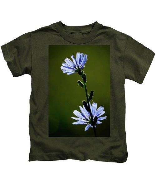 Blue Wildflower Kids T-Shirt