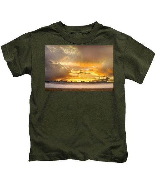 Boulder Colorado Flagstaff Fire Sunset View Kids T-Shirt