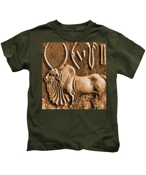 Brahman Bull On Ancient Seal Kids T-Shirt