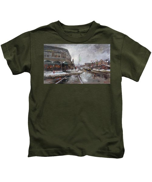 Caffe Aroma In Winter Kids T-Shirt