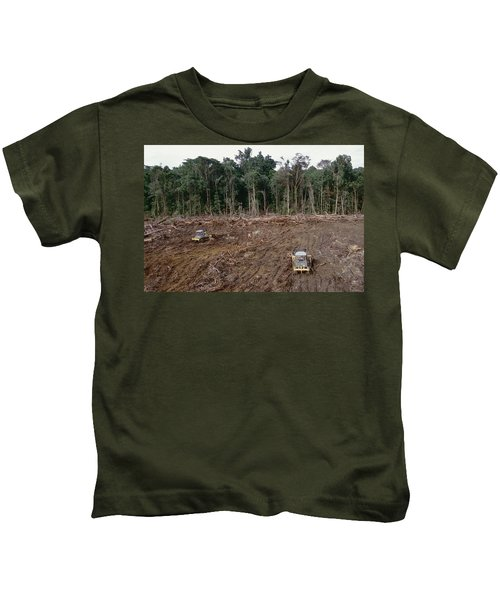 Clearing Of Tropical Rainforest South Kids T-Shirt