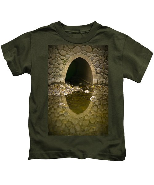 Culvert Emptying Into The Grand River Kids T-Shirt