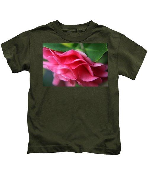 Dancing Petals Of The Camellia Kids T-Shirt