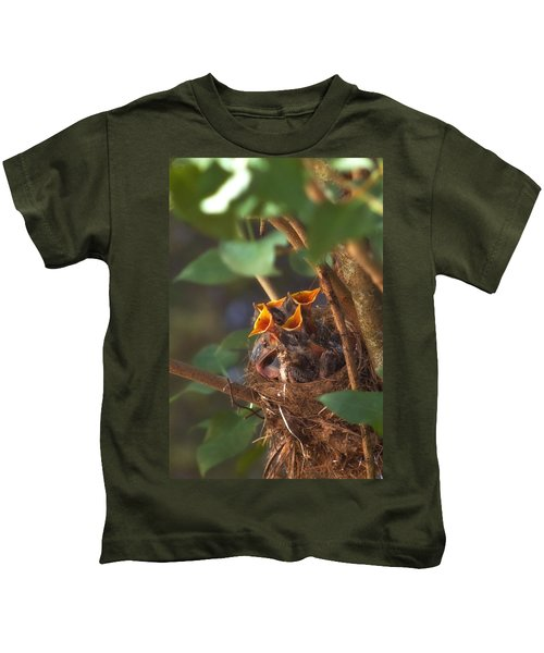 Feeding Time Kids T-Shirt by Joann Vitali