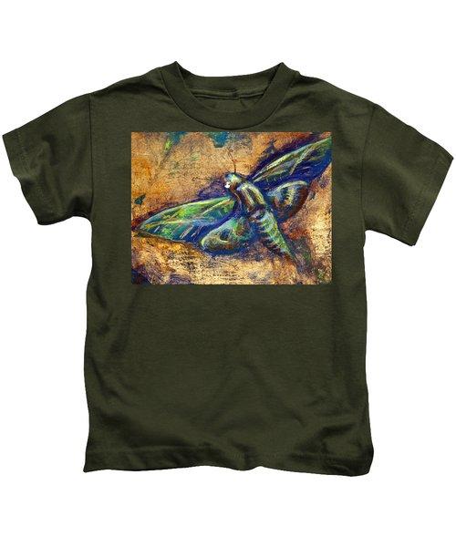 Gold Moth Kids T-Shirt