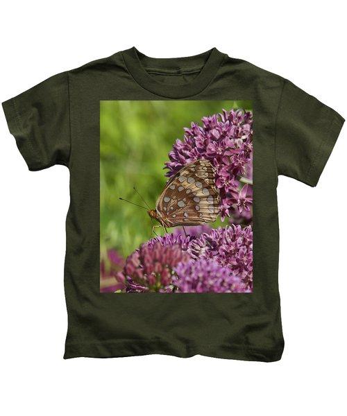 Great Spangled Fritillary Din194 Kids T-Shirt