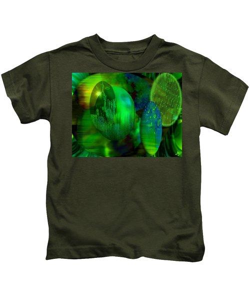 Green Ovals Kids T-Shirt