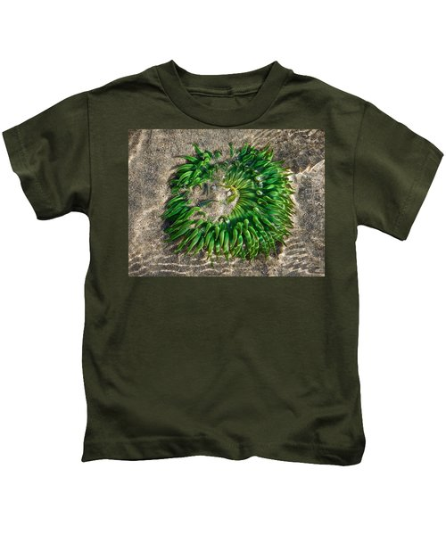 Green Sea Anemone Kids T-Shirt