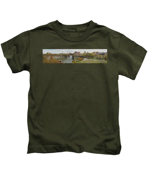 High Falls Panorama Kids T-Shirt