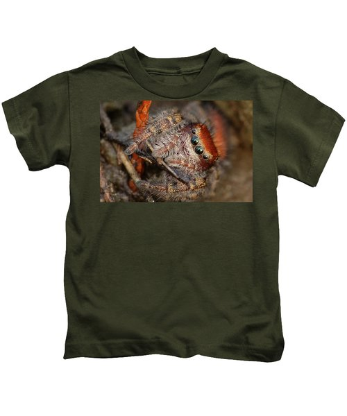 Jumping Spider Portrait Kids T-Shirt