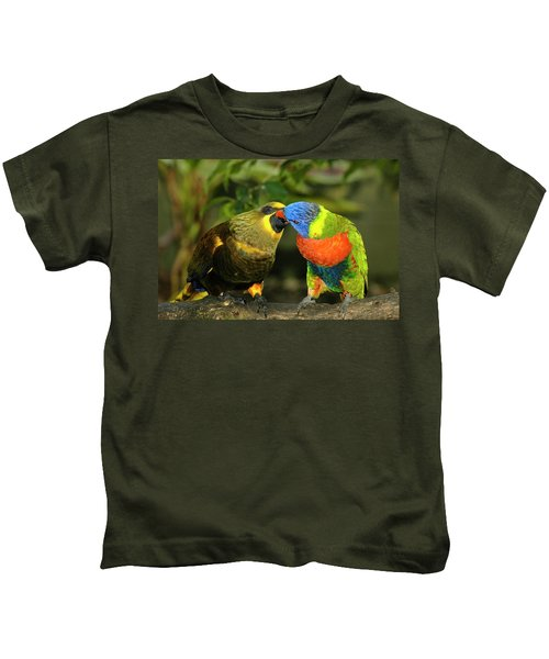 Kissing Birds Kids T-Shirt