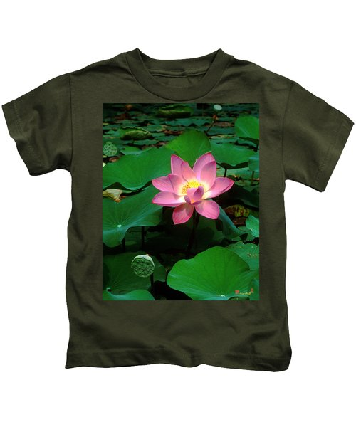 Lotus Flower And Capsule 24a Kids T-Shirt
