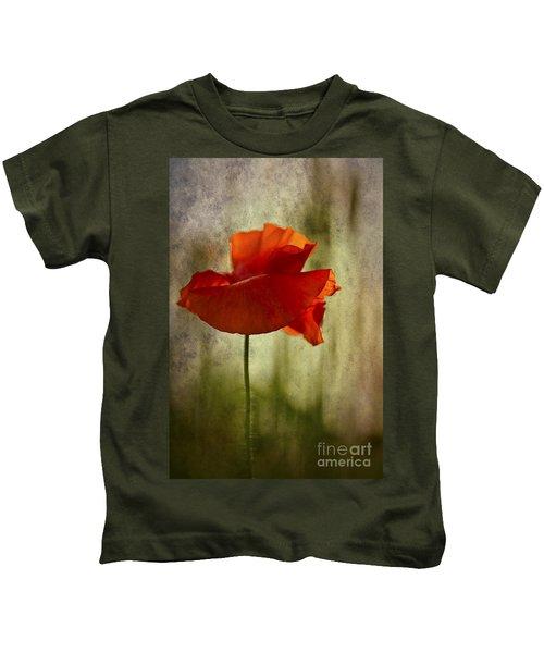 Moody Poppy. Kids T-Shirt