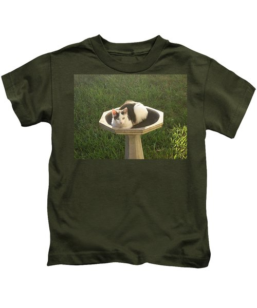 Occupied Bird Bath Kids T-Shirt