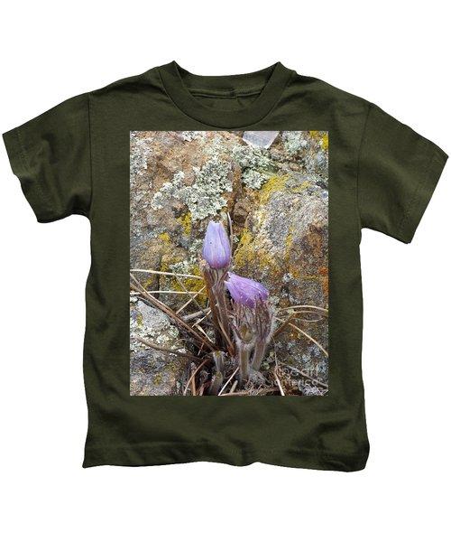 Pasque Flowers Kids T-Shirt