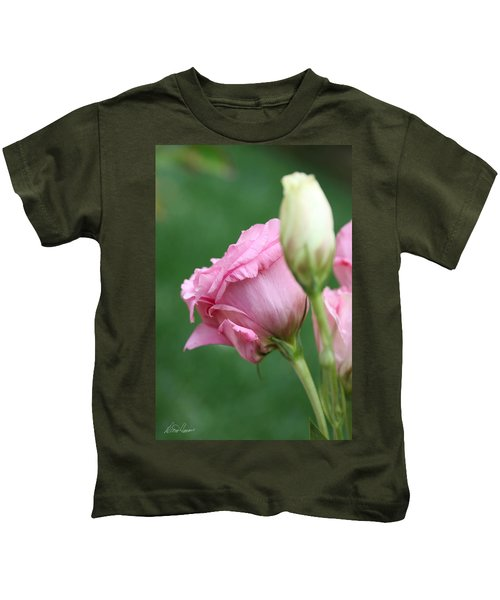 Pink Lisianthus Kids T-Shirt