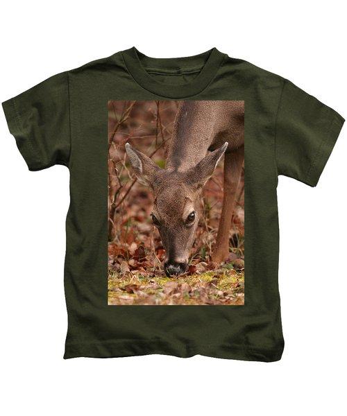 Portrait Of  Browsing Deer Two Kids T-Shirt