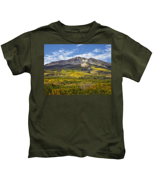 Quaking Aspen Forest And East Beckwith Kids T-Shirt