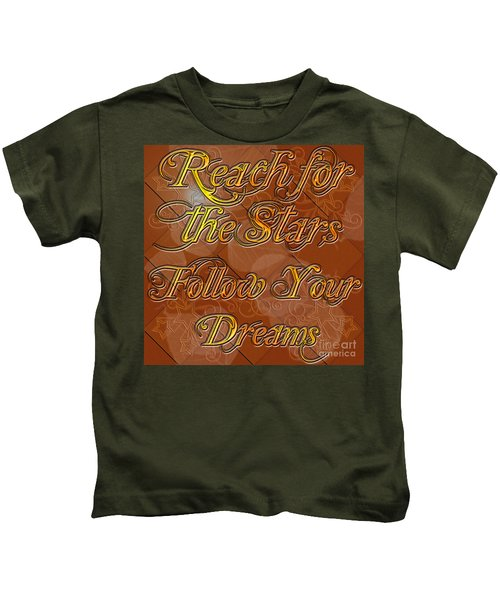 Reach For The Stars Follow Your Dreams Kids T-Shirt