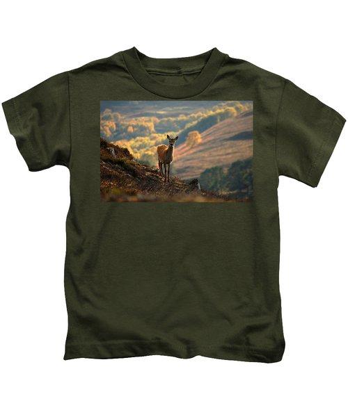 Red Deer Calf Kids T-Shirt