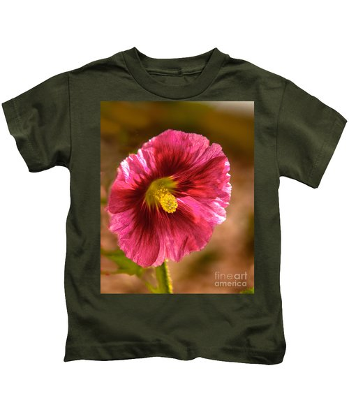 Red Hollyhock Kids T-Shirt