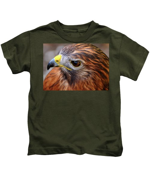 Red-tailed Hawk Close Up Kids T-Shirt