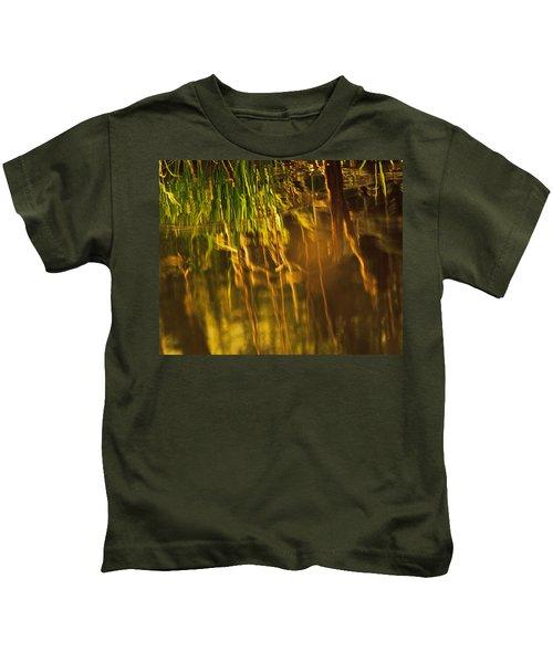 Reflecting On A Summer Morn Kids T-Shirt