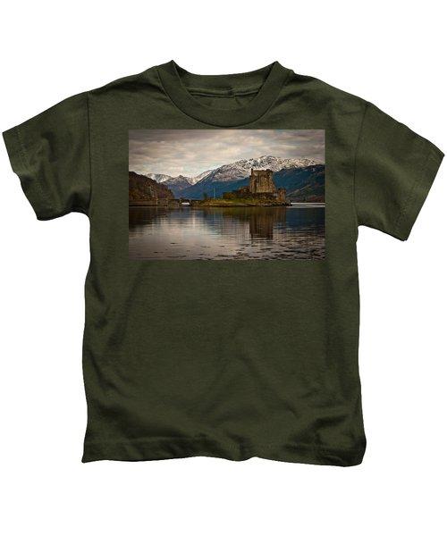 Reflection At Eilean Donan Kids T-Shirt