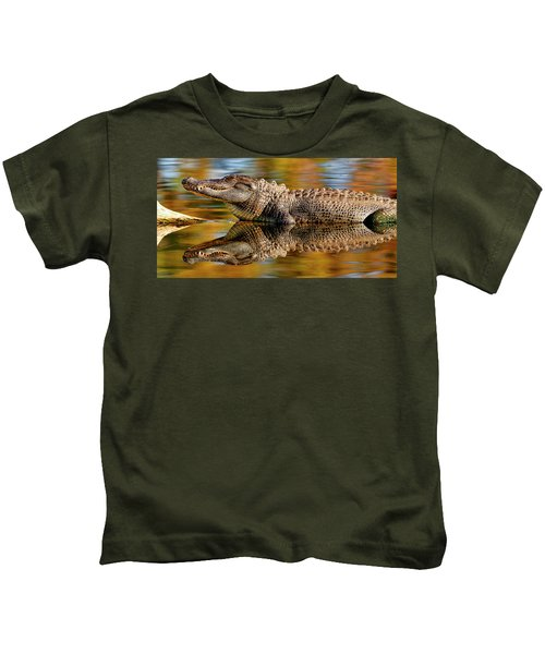 Relection Of An Alligator Kids T-Shirt