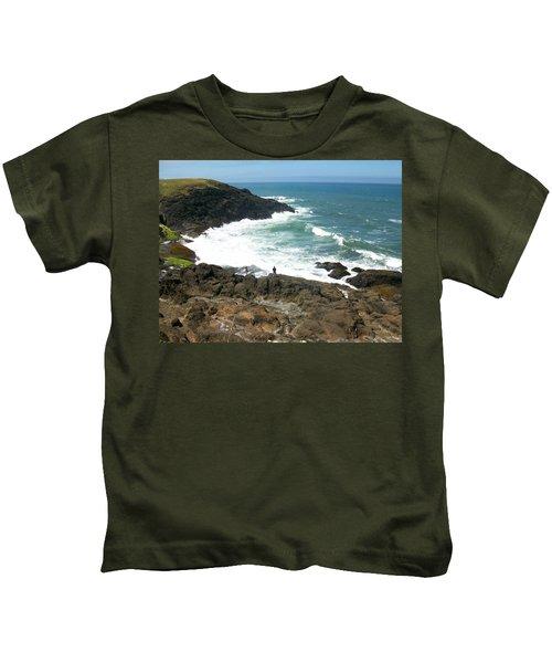Rocky Ocean Coast Kids T-Shirt
