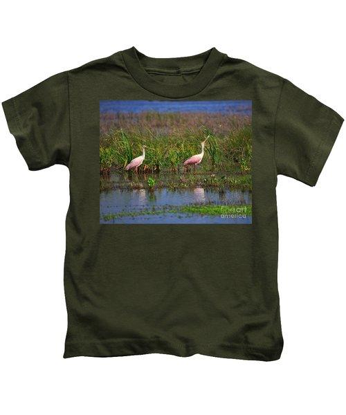Roseate Spoonbills Kids T-Shirt
