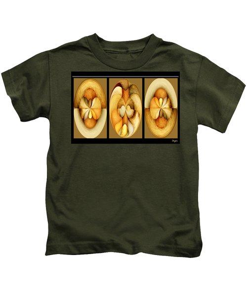 Sanded Woods Triptych Light Kids T-Shirt