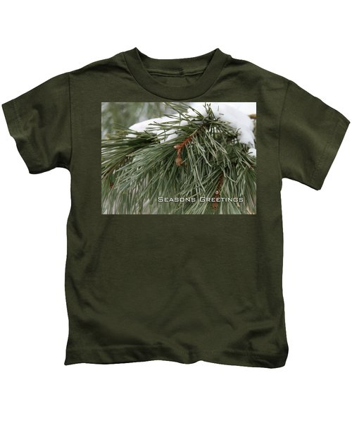 Seasons Greetings Kids T-Shirt
