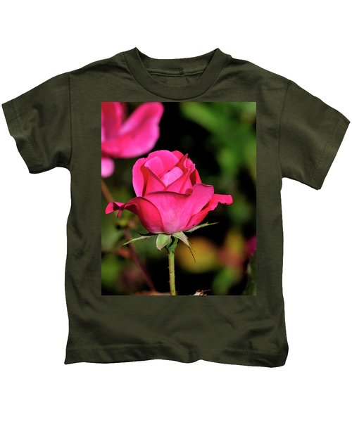 Simple Red Rose Kids T-Shirt