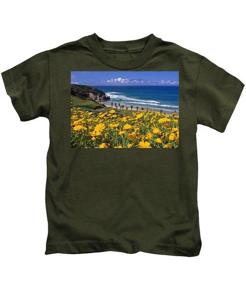 Springtime On The Headlands Kids T-Shirt