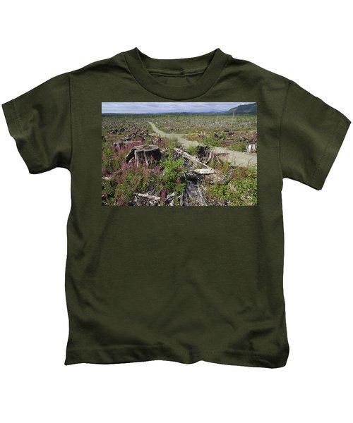 Temperate Rainforest Clear Cutting Kids T-Shirt