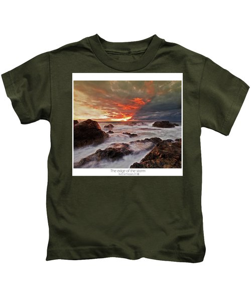 The Edge Of The Storm Kids T-Shirt