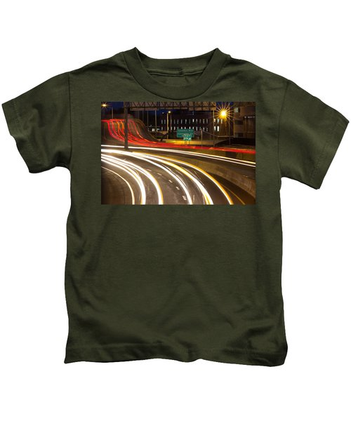 Traveling In Time Kids T-Shirt