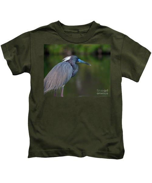 Tricolored Heron Kids T-Shirt