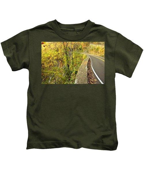 W Road In Autumn Kids T-Shirt
