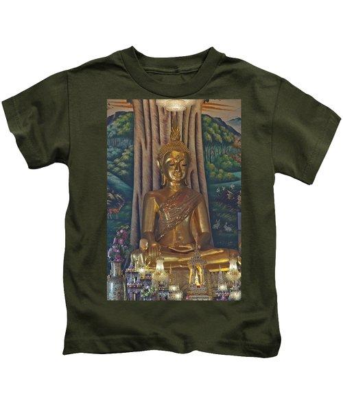 Wat Kaewjamfa Ubosot Principal Buddha Dthb1072 Kids T-Shirt