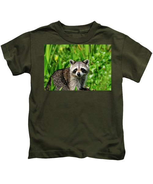 Wetlands Racoon Bandit Kids T-Shirt