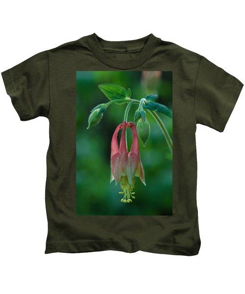 Wild Columbine Flower Kids T-Shirt
