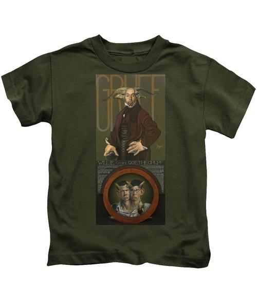 Willie Von Goethegrupf Kids T-Shirt by Patrick Anthony Pierson