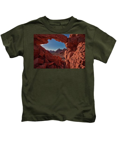 Window On The Valley Of Fire Kids T-Shirt
