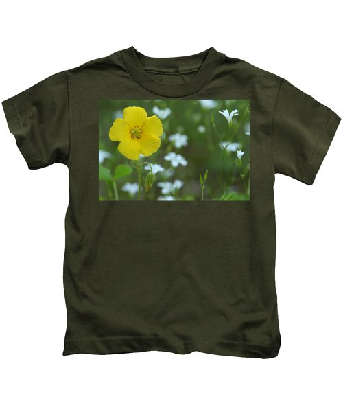 Wood Sorrel And Sandwort Kids T-Shirt