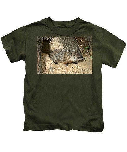 Woodchuck Kids T-Shirt by Ted Kinsman