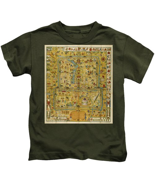 A Map And History Of Peiping Kids T-Shirt