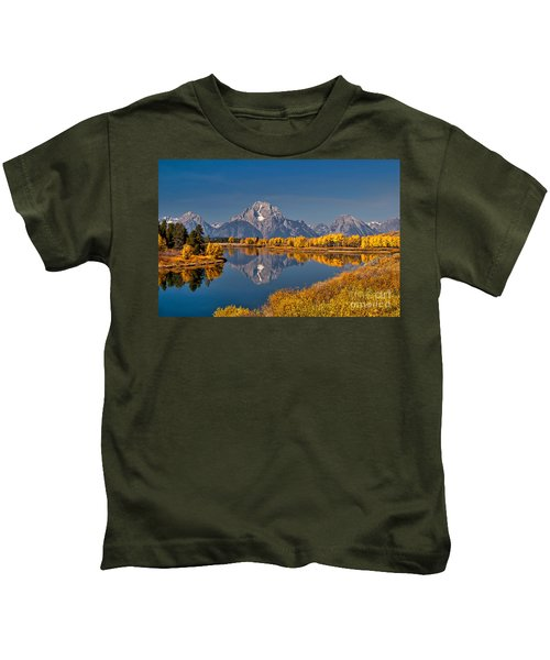 Fall Colors At Oxbow Bend In Grand Teton National Park Kids T-Shirt